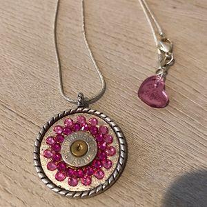 12 Gauge Girl Bullet Necklace w/ Swarovski Crystal